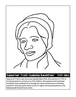 Speaker Sojourner Truth coloring page