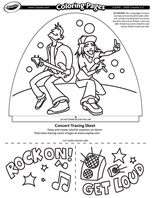 Jammin' Concert coloring page