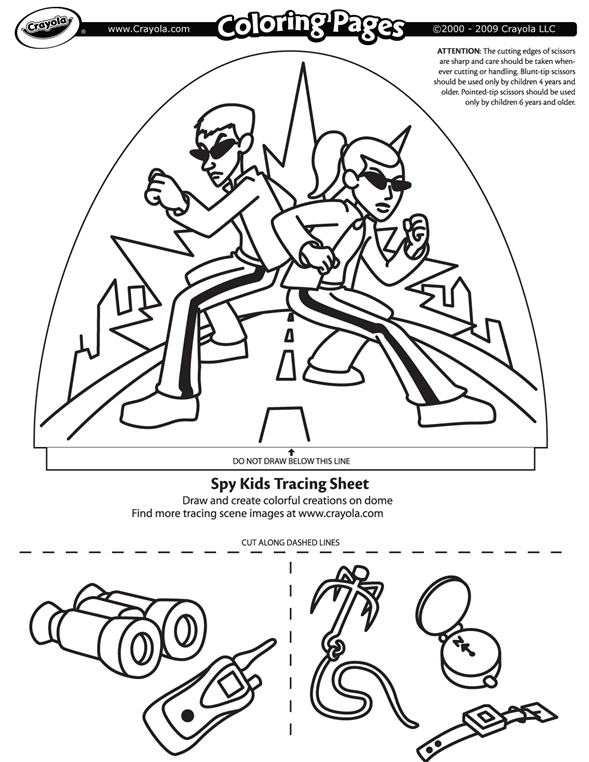 spy coloring pages Spy Kids | crayola.co.uk spy coloring pages
