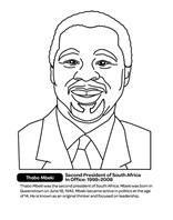 South Africa President - Thabo Mbeki coloring page