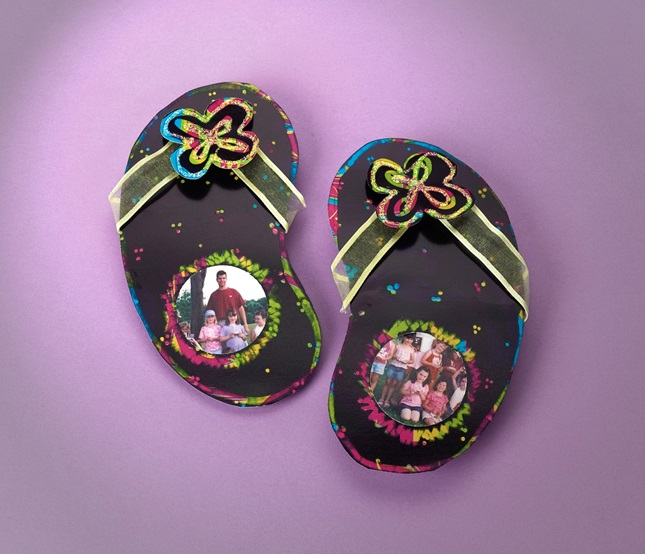 Flip-Flop Photo Frames craft