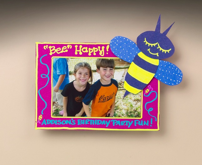 'Bee Happy' Picture Frame craft