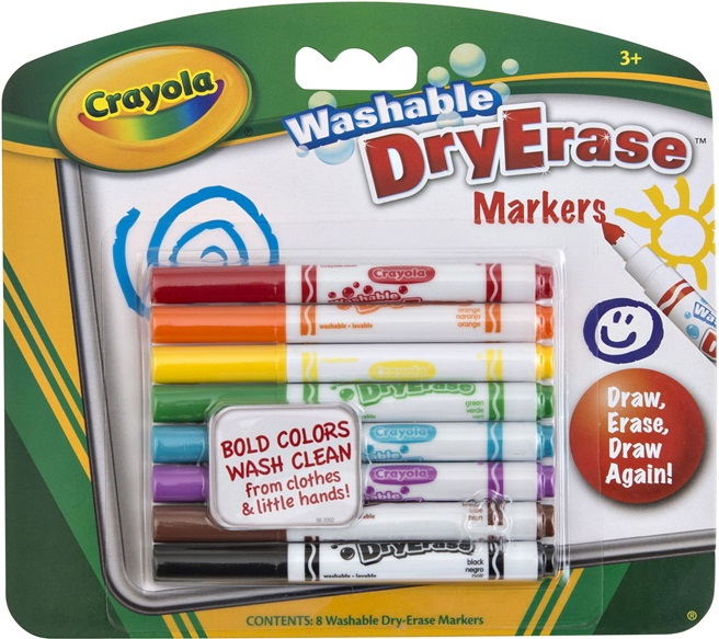 8 Washable Dry Erase Markers