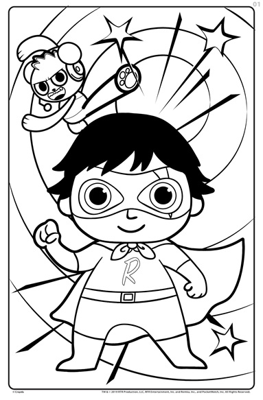 Giant Colouring Pages Ryan S World Crayola Co Uk