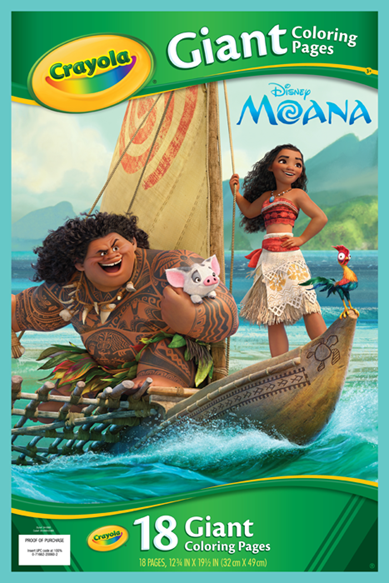 Giant Colouring Pages Moana | crayola.co.uk