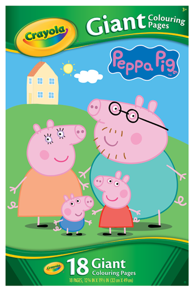 Peppa Pig Giant Colouring Pages