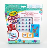 Glitter Dots Stencil Stickers