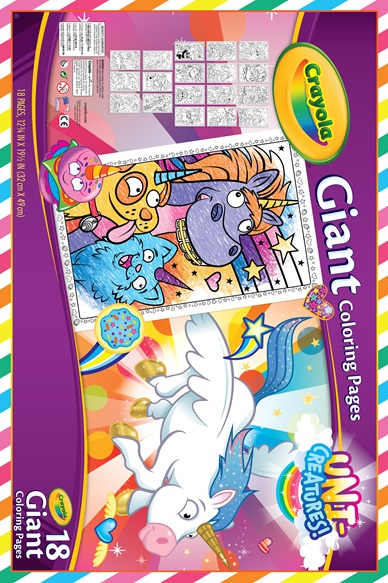 Unicreatures Giant Colouring Pages | crayola.co.uk