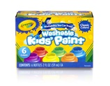 6 ct. Assorted Color Washable Paint