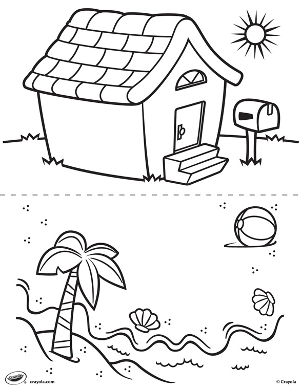 First Pages House And Beach