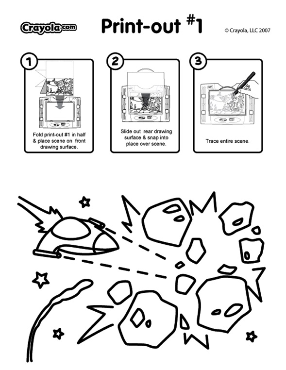 Asteroids coloring page