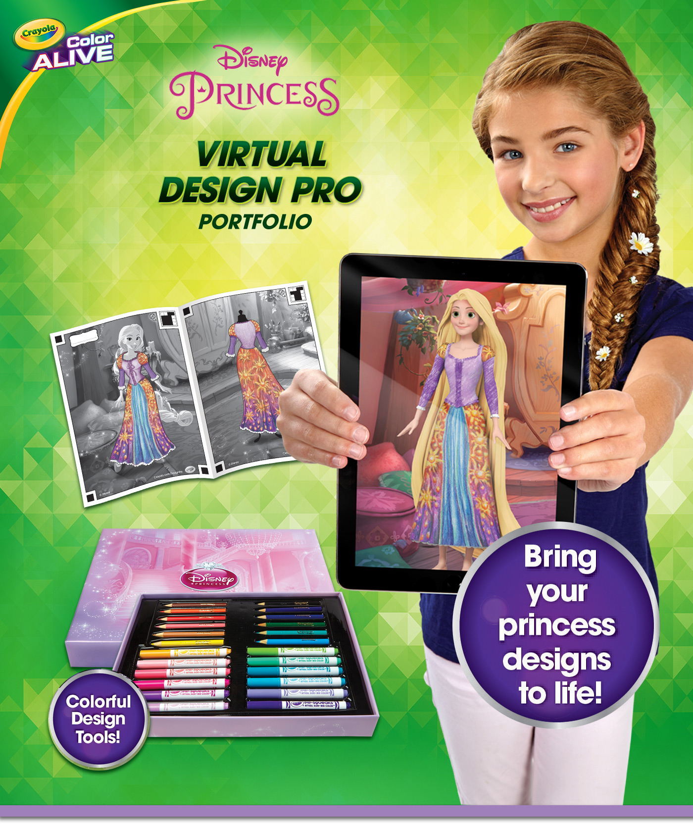 Crayola Color Alive Disney Princess Virtual Design Pro Portfolio ...
