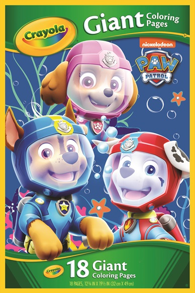 Giant Coloring Pages Paw Patrol Crayola Co Uk