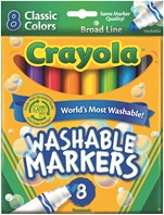 8 Washable Broadline Markers Classic Colors